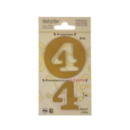 Номерок двойной  4 (для двери и почтового ящика)