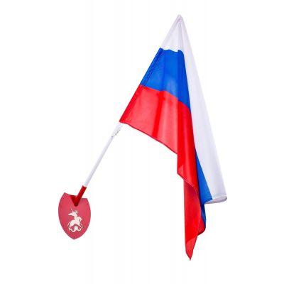 Набор № 3(Флаг России, древко для флага, кронштейн одинарный)