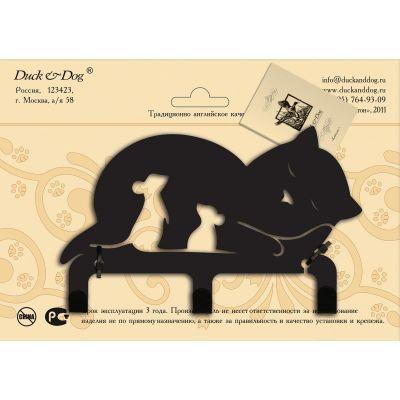 """Крючок  настенный трехрожковый  """"Кошки-мышки"""" CR3-05"""
