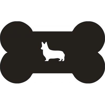 """Подставка для мисок - собака """"Корги"""""""