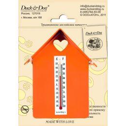 """Термометр """"Домик"""" (с крышей) ТД.002.О(Оранжевый)"""