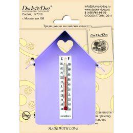 """Термометр """"Домик"""" (с крышей) ТД.002.С(Сиреневый)"""