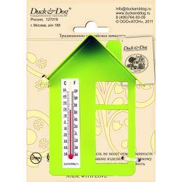 """Термометр """"Домик"""" (с крышей и окном) ТД.003.З(Зеленый)"""