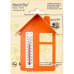 """Термометр """"Домик"""" (с крышей и окном) ТД.003.О(Оранжевый)"""