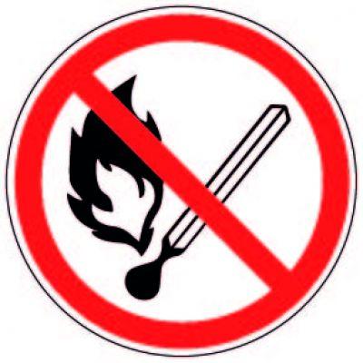 """Наклейка маленькая   """"Запрещается пользоваться открытым огнем и курить"""" №54   (10х10 см)"""