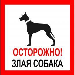 """Наклейка   """"Злая собака """" №45 (10х10 см)"""
