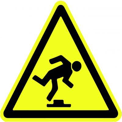 """Наклейка маленькая  """"Осторожно! Препятствия"""" №44 (10х10 см)"""