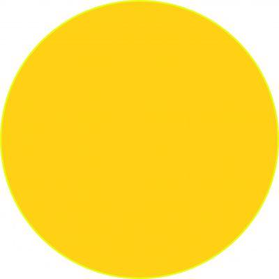 "Наклейка маленькая  ""Желтый круг"" №31 (10х10 см)"