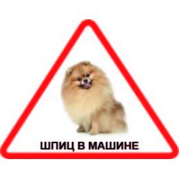 Наклейка треугольная с собакой 010