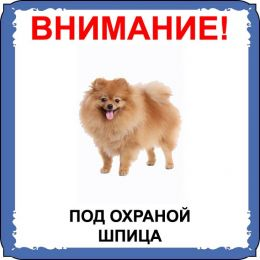 Табличка на  металле с собакой 010