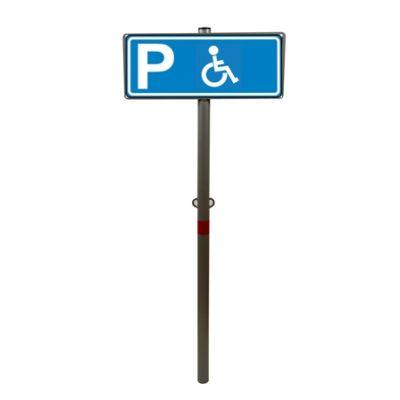 """Парковочный столбик бетонируемый с табличкой """"Парковка для инвалидов"""""""