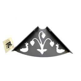 Консоль для полки Ягода (глубина 150 мм) металлик