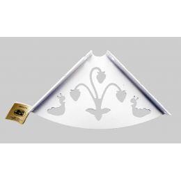 Консоль для полки Ягода (глубина 150 мм) белая