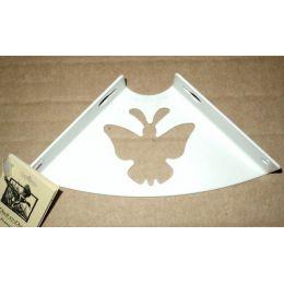 Консоль для полки Бабочка (глубина 100 мм) белая