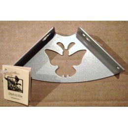 Консоль для полки Бабочка (глубина 100 мм) металлик