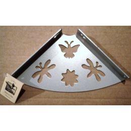Консоль для полки Бабочка (глубина 150 мм) металлик