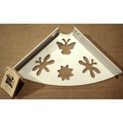 Консоль для полки 150 бабочка белая