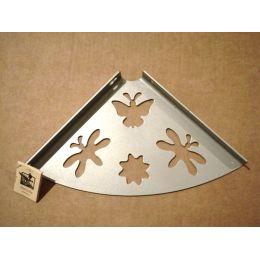 Консоль для полки Бабочка (глубина 200 мм) металлик