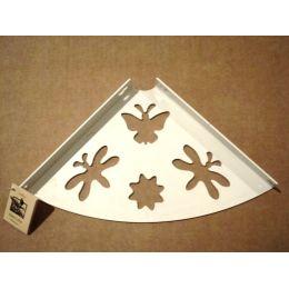 Консоль для полки Бабочка (глубина 200 мм) белая