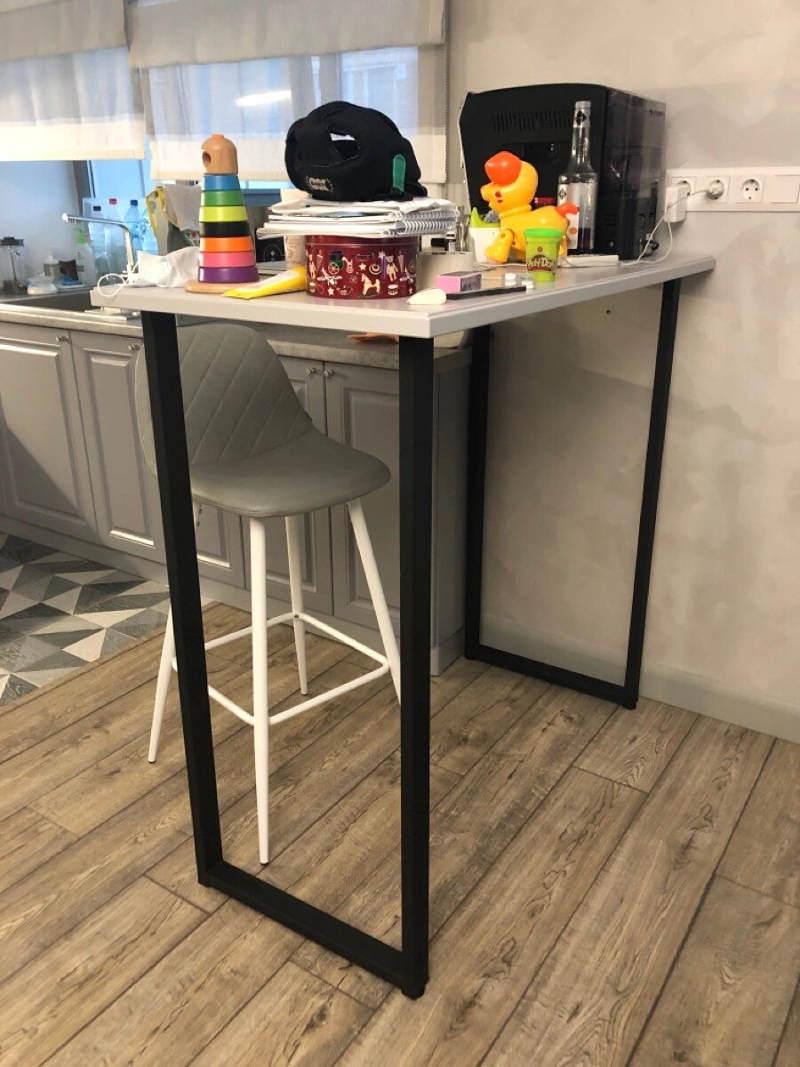 Подстолье для барного стола / черное / высота 110 см.
