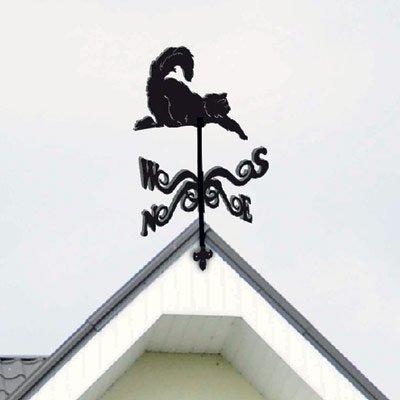 флюгер кот на крыше
