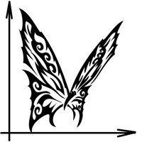 чертеж флюгера бабочки