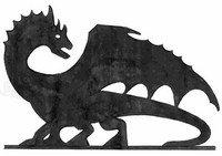 эскиз флюгера дракона