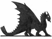 флюгер дракон чертеж