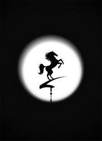 чертеж флюгера лошадь