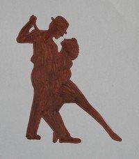 чертеж флюгера танцоры