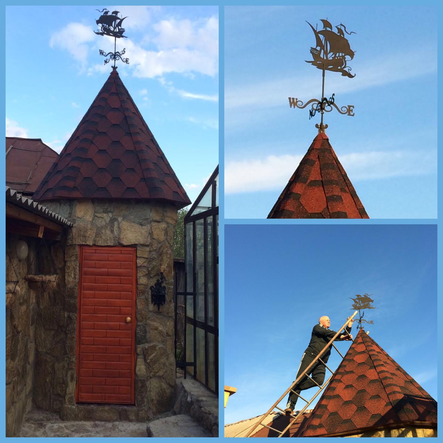 фотографии флюгеров на крышу
